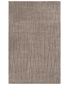 Etching ETC-4996 Medium Gray 2' x 3' Area Rug