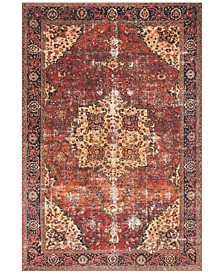 "Loren LQ-07 Red/Navy 8'4"" x 11'6"" Area Rug"