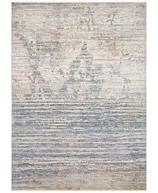 "Pandora PAN-06 Ivory/Blue 2'6"" x 10' Runner Area Rug"