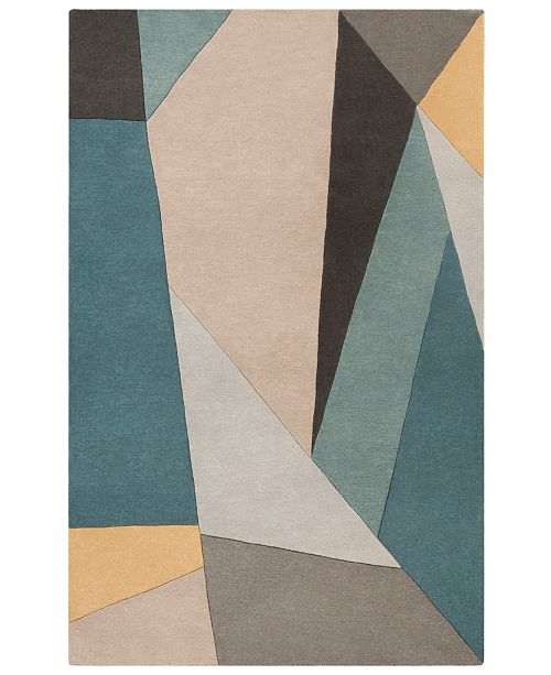 Surya Forum FM-7223 Teal 6' x 9' Area Rug