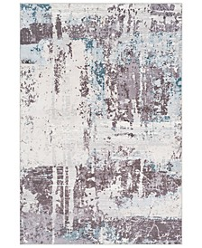 "Genesis GNS-2301 White 5'3"" x 7'6"" Area Rug"
