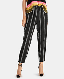 RACHEL Rachel Roy Rina Pull-On Striped Pants, Created for Macy's
