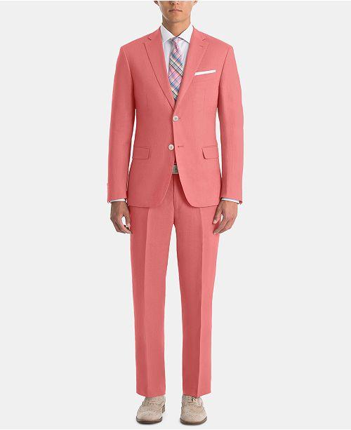 Lauren Ralph Lauren Men's UltraFlex Classic-Fit Red Linen Suit Separates