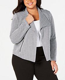 Calvin Klein Plus Size Open-Front Blazer