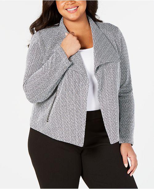 2c66f8585c0a9 Calvin Klein Plus Size Open-Front Blazer - Jackets   Blazers - Plus ...