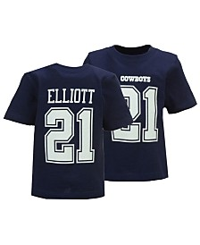 Authentic NFL Apparel Ezekiel Elliott Dallas Cowboys Eligible Player Name & Number T-Shirt, Infants (12-24 Months)