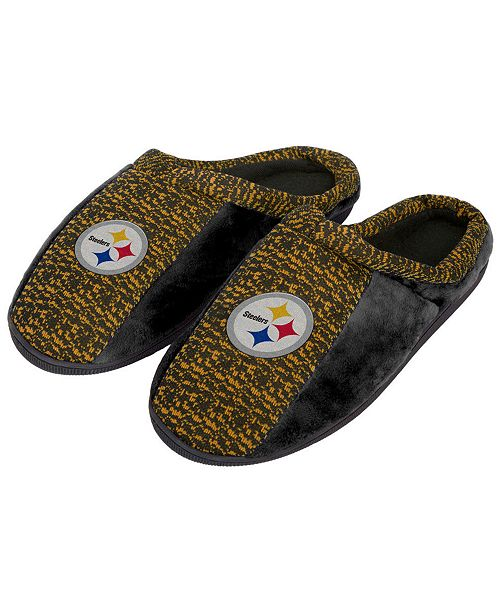 Forever Collectibles Pittsburgh Steelers Knit Cup Sole Slippers ... 9ba1295387c