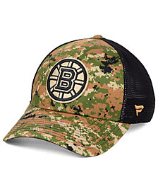 Authentic NHL Headwear Boston Bruins Military Appreciation Speed Flex Stretched Fitted Cap