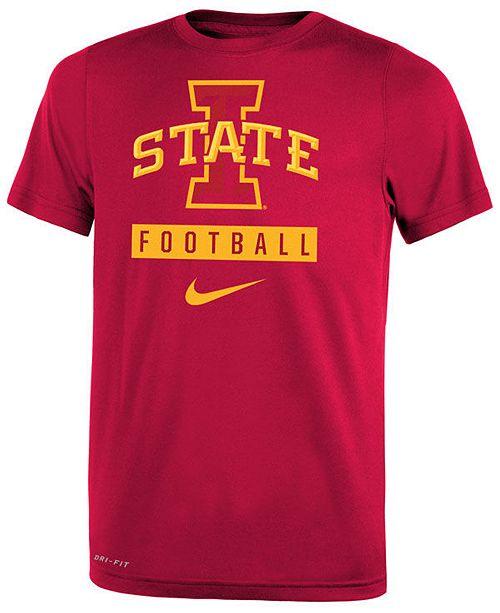 Nike Iowa State Cyclones Logo Sport Drop T-Shirt, Big Boys (8-20)