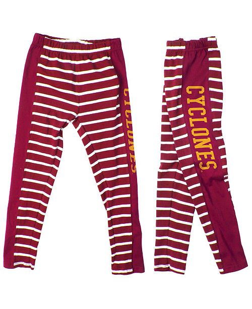 Authentic NCAA Apparel Wes & Willy Iowa State Cyclones Stripe Leggings, Girls (4-16)