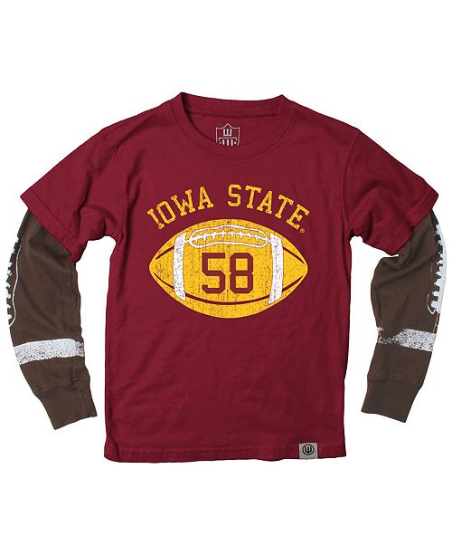 sports shoes b8825 7e50f Wes   Willy Iowa State Cyclones Football Sleeve 2-In-1 T-Shirt