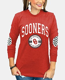 Gameday Couture Women's Oklahoma Sooners Elbow Patch Long Sleeve T-Shirt