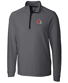 Cutter & Buck Men's Cleveland Browns Jackson Half-Zip Pullover