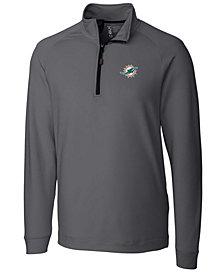 Cutter & Buck Men's Miami Dolphins Jackson Half-Zip Pullover