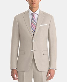 Men's UltraFlex Classic-Fit Tan Linen Sport Coat