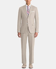Men's UltraFlex Classic-Fit Tan Linen Suit Separates