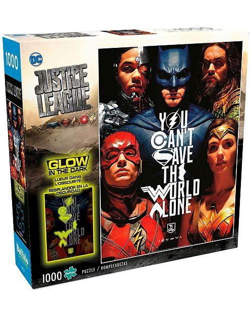 Buffalo Games Justice League - You Can't Save the World Alone Glow