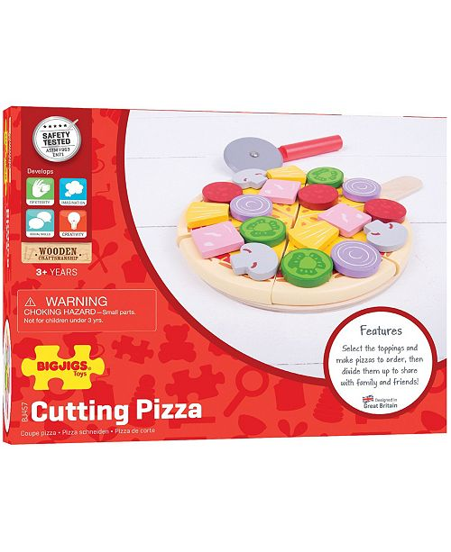 Bigjigs Toys Wooden Cutting Pizza