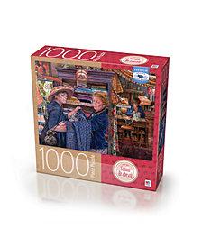 Premium Blue Board Jigsaw Puzzle - Susan Brabeau - Lamp Shop- 1000 Pieces