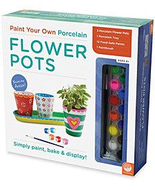 Paint Your Own Porcelain Flower Pots
