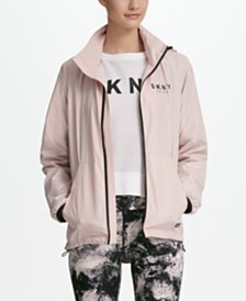 DKNY Sport Convertible Hooded Windbreaker, Created for Macy's