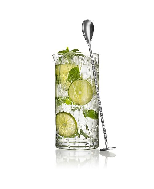 Orrefors City Mixing Glass w/Bar Spoon