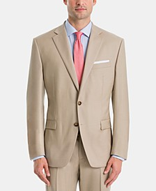 Men's UltraFlex Classic-Fit Tan Wool Suit Jacket