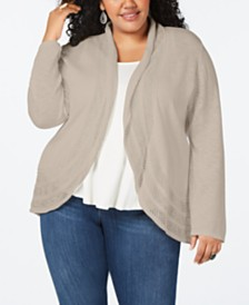 Style & Co Plus Size Pointelle Cardigan, Created for Macy's