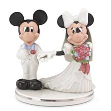 Lenox Mickey & Minnie Cake Topper Figurine