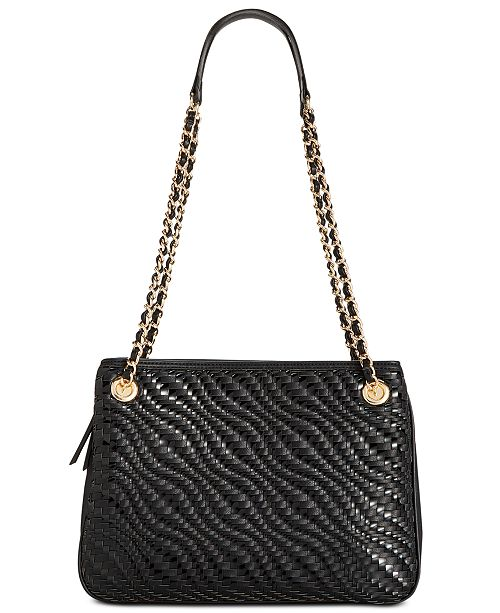 INC International Concepts I.N.C. Blakke Woven Shoulder Bag, Created for Macy's