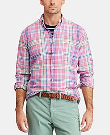 Polo Ralph Lauren Men's Classic Fit Plaid Cotton Oxford Shirt