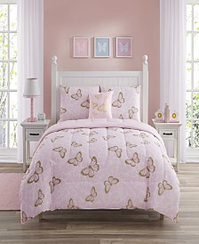 Cindy Butterfly Twin 3 Piece Comforter Set