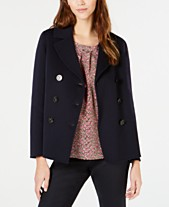 97c06af6987 Weekend Max Mara Double-Breasted Peacoat