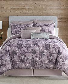 Eva Longoria Black Label Abergine Collection Queen Comforter Set