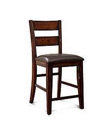 Arlen Dark Cherry Counter Stool (Set of 2)