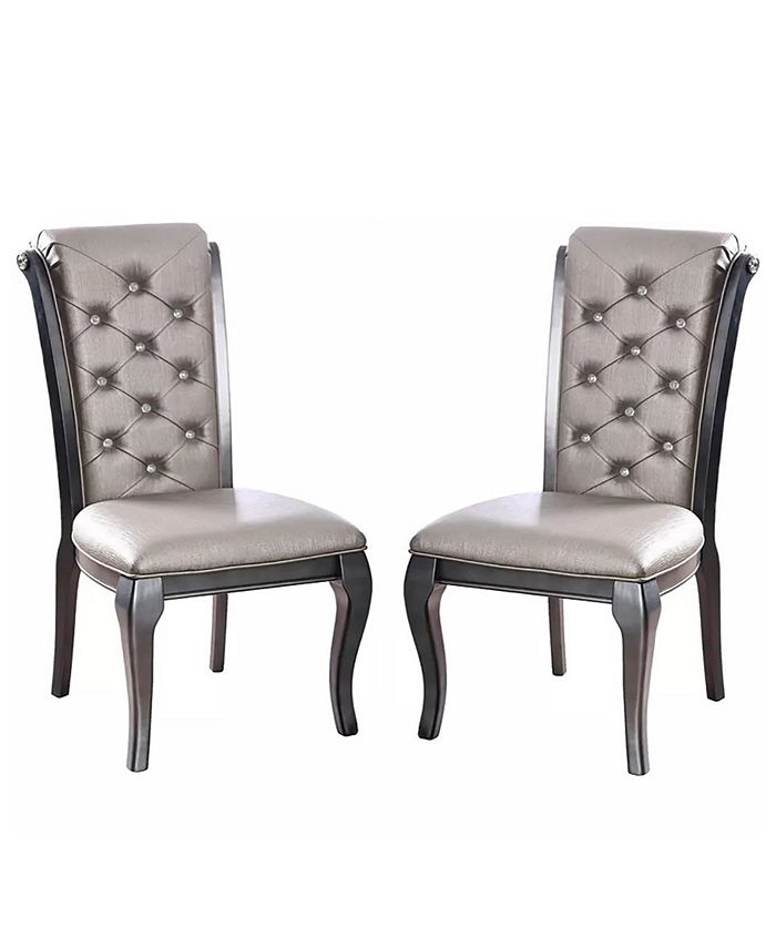 Furniture of America - Sante Side Chair (Set Of 2), Quick Ship
