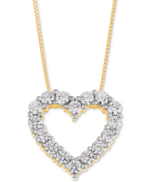 Heart Pendant Necklace (1 ct. t.w.) in 14k Gold or White Gold