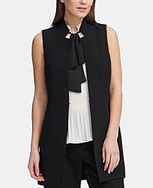 DKNY Notched-Lapel Sleeveless Blazer, Created for Macy's