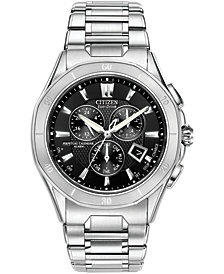 Citizen Men's Eco-Drive Signature Octavia Perpetual Calendar Chronograph Stainless Steel Bracelet Watch 42mm