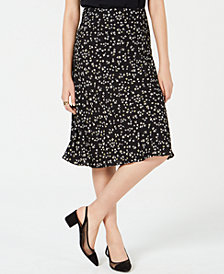 Bar III Floral-Print Midi Skirt, Created for Macy's