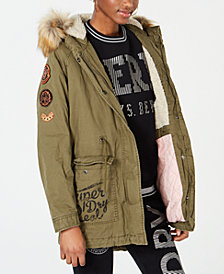 Superdry Rookie Faux-Fur-Trim Parka