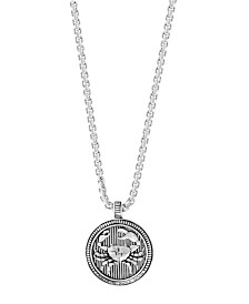 "EFFY® Men's Zodiac 22"" Pendant Necklace in Sterling Silver"