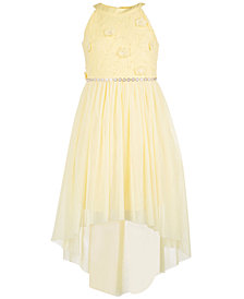 Sequin Hearts Big Girls Embellished High-Low Hem Dress
