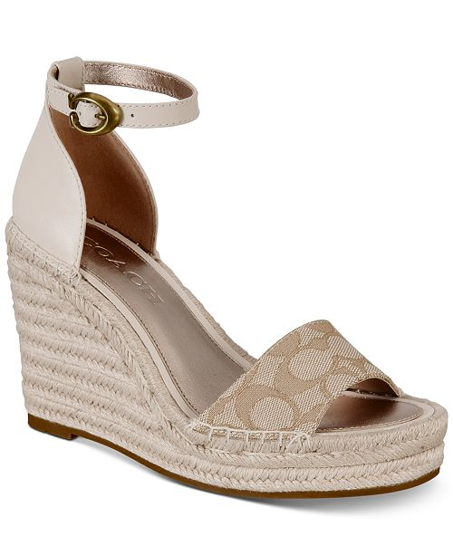 c701350fe49 COACH Kit Espedrille Wedges & Reviews - Wedges - Shoes - Macy's