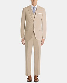 Men's UltraFlex Classic-Fit Tan Cotton Suit Separates