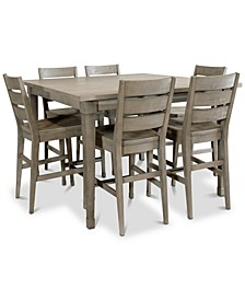 Vogue Dining 7-Pc. Set (Table & 6 Counter Stools)
