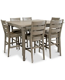 Vogue Dining Furniture, 7-Pc. Set (Table & 6 Counter Stools)