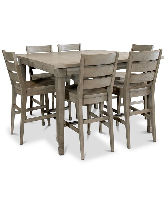 Furniture - Vogue Dining , 7-Pc. Set (Table & 6 Counter Stools)
