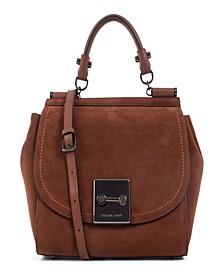 Céline Dion Collection Suede Baroque Handle Bag
