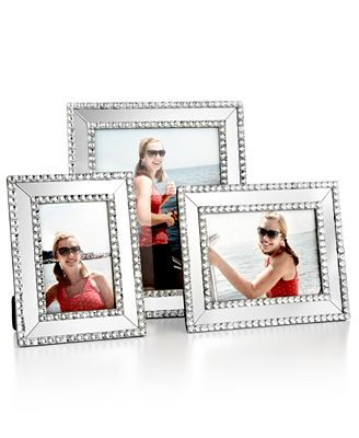 Mirrored Sparkle Picture Frame Collection